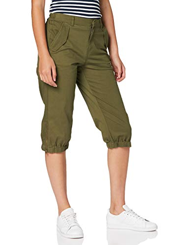 VERO MODA Damen VMKHLOE MR Pocket Zip Knickers Khakihose, Green Milieu, S