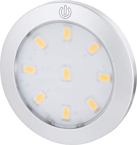 Spot LED Aluminium Superslim encastré - Luminaire pour mât avec interrupteur tactile-Rond-Intensité réglable-3W 280Lumen. Moderne blanc chaud