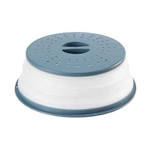 MaoLi Cubierta de alimentos para microondas a prueba de salpicaduras, cubierta plegable para alimentos, cesta de drenaje con mango herramientas esenciales (color: 1)