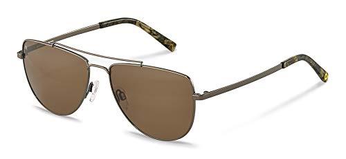 Rodenstock Sonnenbrille Youngline Sun RR105 (Herren), leichte Sonnenbrille im Casual-Stil mit Sun Contrast Gläsern, Pilotenbrille mit Edelstahlgestell