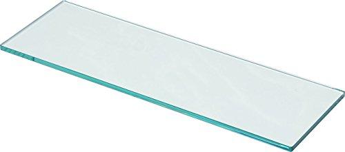 IB-Style - Glasboden Stärke 10 mm | klar und satiniert | 4 Abmessungen | Glasscheibe Glasplatte für Glasregal KLARGLAS - 600x150 mm