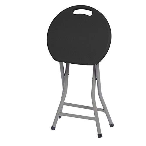DFMD Outdoor Vouwstoelen, Casual Ronde Groene Plastic Huishoudelijke Kleuren Kruk Draagbare Camping Picknick Barbecue Balkon Stoel, Zwart, Blauw