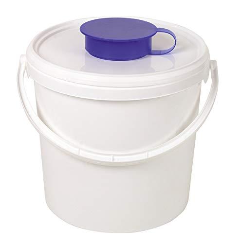 Spender-Eimer für Vliesrollen, Spender für Vliesrollen, Hygienespender, Vliesrollen-Dispenser, Feuchttuch-Spender, Größe:5.7 Liter