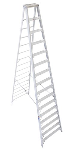 Werner 416 300-Pound Duty Rating Type IA Aluminum Stepladder, 16-Foot