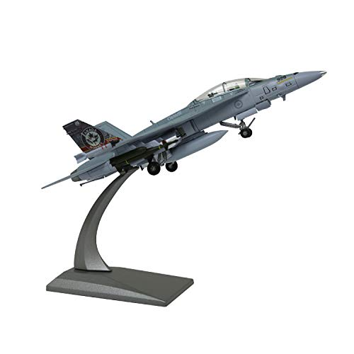 LoseFunPark 1:100 Modello di Aereo Militare F/A-18B Canadian Air Force Diescast Fighter Modello di Aereo da Caccia in Lega