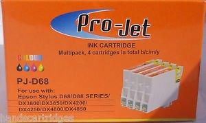 6 NO OEM Cartuchos Compatibles Projet T611 X3 T612 T613 T614