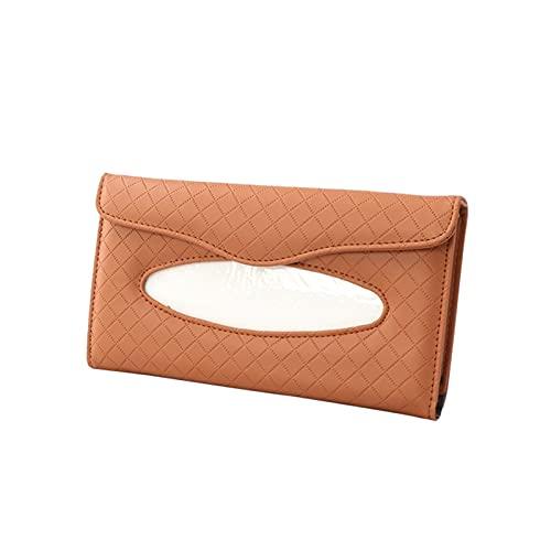 YUGHJFEN Organizador de Coche 1 unids Caja de Tejido de Coche Conjuntos de Toallas Coche Sun Visor Tissue Napbin Box Holder Auto Interior Almacenamiento Decoración Accesorios para automóviles