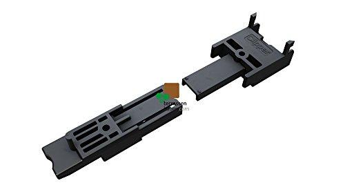 K&R Terracon Clipper für Dielenbreite 120-150mm mit Schrauben für Dielen in Stärke bis 25mm für Aluminium UK, 50 Stk