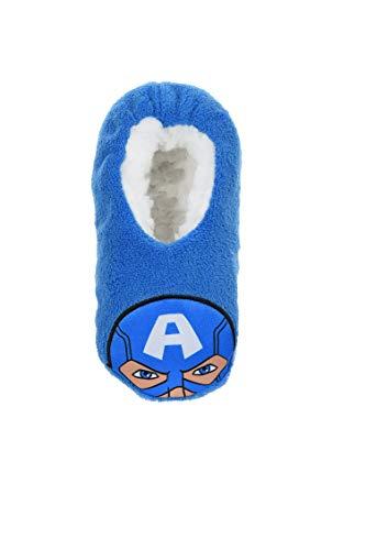 Chaussons d'intérieur polaires souples enfant garçon Avengers Marvel Captain America Bleu du 25 au 32 (EU, numeric_29)