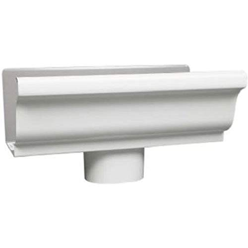 Amerimax Home Products 33010 12,7 cm Extrémité galvanisé/Drop, Blanc
