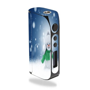 Pioneer4You iPV D3 80W Vape E-Cig Mod Box Vinyl DECAL STICKER Skin Wrap / snowman Xmas Winter Snow Stars Printed Design