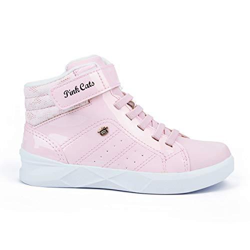 Tênis Pink Cats Cano Alto Feminino Rosa 33