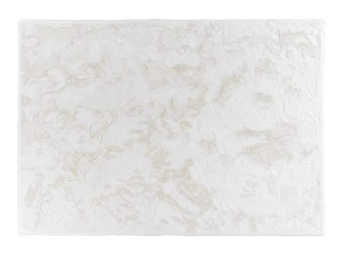 Schöner Wohnen Neu Soft Shaggy Teppich Tender - Farben: Weiß, Silber, Grau, Anthrazit, Caramel | Ultra weicher Flauschteppich | bei 30° waschbar, Farbe:Weiß, Größe:120 x 180 cm