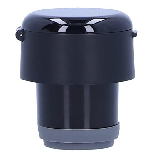 Botella de agua, botella de vacío multiusos para escuchar música para beber agua para fitness(black, Pisa Leaning Tower Type)