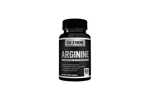 Arginine Extra Strength - 1250mg Nitric Oxide - Supplement for Blood Flow, Energy, Muscle Growth, and Vascularity - Aid Physical Performance - 60 Capsules - w/Agmatine Sulfate and AAKG
