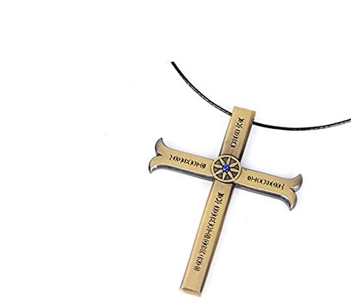 QIDUDZ Collar con colgante de cruz de Drácula de anime con diseño de espada y ojos de águila, regalos de joyería vintage (con vaina)