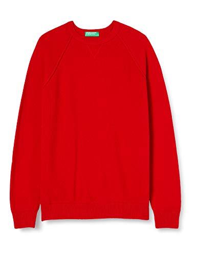 United Colors of Benetton 1044U1M55 Maglione, Red 015, XXL Uomo