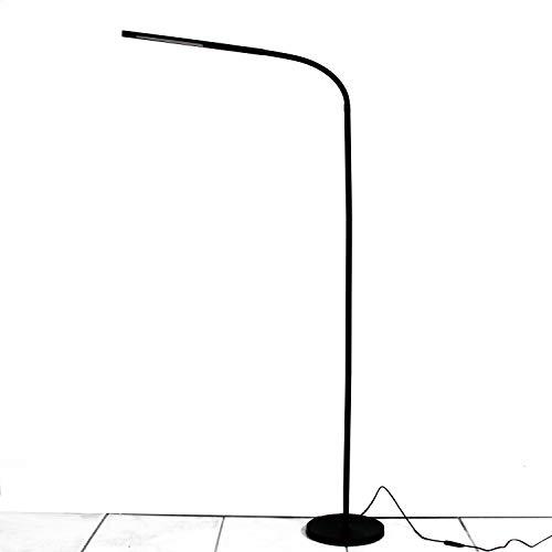 LIGHTEU, LED vloerlamp 6W aanraaksensor schakelaar, LED vloerlampen, vloerlamp, moderne en eenvoudige stijl, continu dimmen, lange verstelbare arm voor bank/kantoor lezen, woonkamer, slaapkamer