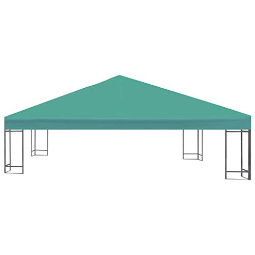 AYNEFY Gazebo Top Cover, Outdoor Gazebo Canopy Tent Marquee Pavilion Roof Replacement for Courtyard Garden Backyard, 3 x 3m, Green