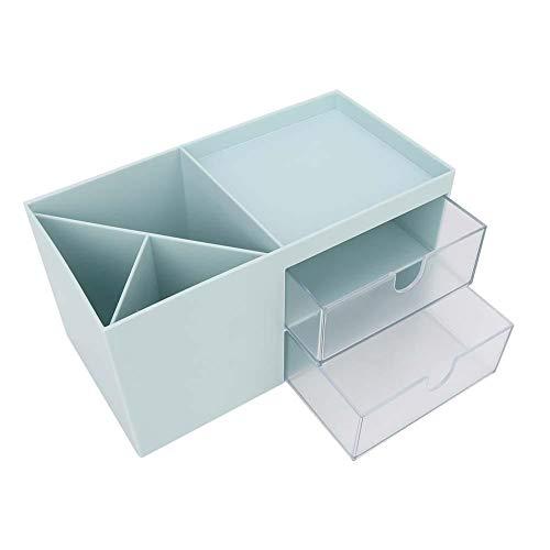Caja de almacenamiento Estuche de maquillaje Estante de almacenamiento de baño duradero para varios documentos coleccionables para el dormitorio Oficina en casa(green)