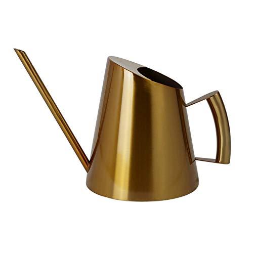 1500ml Edelstahl-Wasserkanister, Gold-Gießkanne Metallgießkanne für Zimmerpflanzen für Kinder und Büro