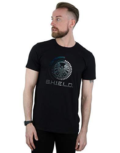 Marvel Hombre Agents of S.H.I.E.L.D. Circuits Camiseta Negro Large