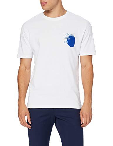 Jack & Jones JJAARHUS Tee SS Crew Neck T-Shirt, White, L Homme
