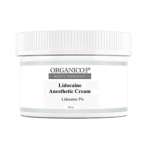 ORGANICOLAB, 5% Lidocaine, for Deeper Penetration, Topical Numbing Cream, Local and Anorectal Discomfort, 4 oz