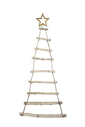 Moderner Hänger Tanne aus Holzstäben 112cm Weihnachten Advent Deko Tannenbaum
