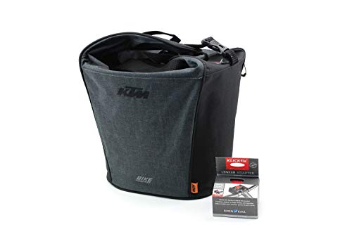 KTM Fahrradtasche Gepäckträgertasche grau/schwarz klick Fix 18 Liter