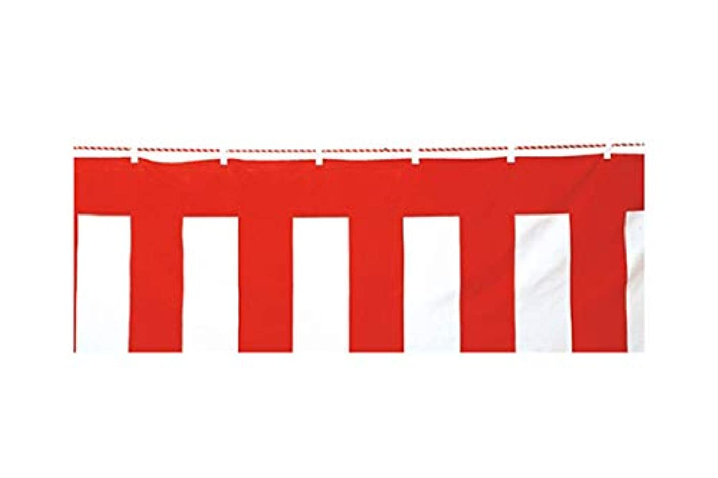 咲くツールしつけアズワン 紅白幕(綿) 180cm×9.0m/61-7257-40