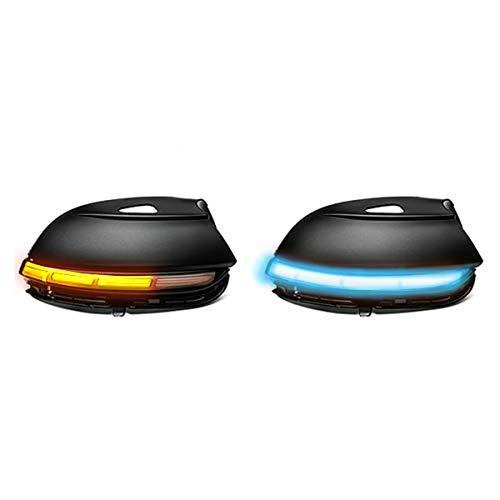 Dynamische Rückspiegel Blinkerleuchte (Gelb + Blau) Kompatibel mit Passat B7 Scirocco MK3 CC EOS Käfer