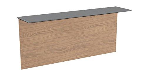 Table Click pliable et rabattable au mur avec étagère, petite étagère en stratifié stratifié anthracite, grande table en stratifié, épaisseur 16 mm, 110 x 25 mm