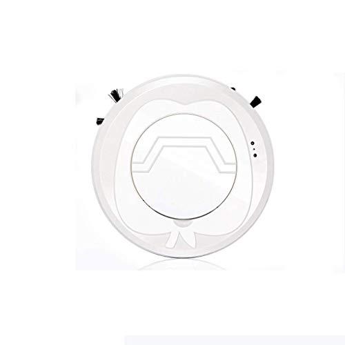 Barir Robot Aspiradora, Vacío y fregona Aspirador robótico, Mini Ultra-Delgada silencioso Robot de Barrido Inteligente, for el Pelo de Mascotas, Pisos Duros, alfombras (Color : White)