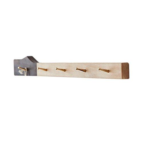 XXT Aan de muur bevestigde Kapstok kleur van het stiksel 5 Haken 60cm houten interieur Woonkamer Slaapkamer Aisle Planken Creative Kapstok