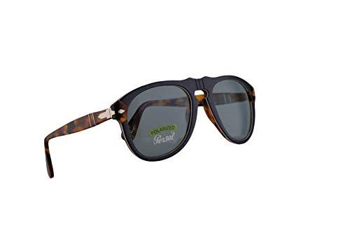 Preisvergleich Produktbild Persol 649 Sunglasses P.Galles Blau Mit polarisierten Blauen Gläsern 52mm 10903R PO 0649 PO0649 PO649