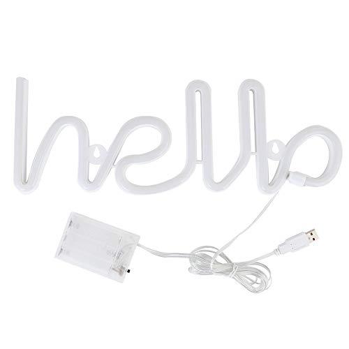 Caiqinlen Decoración Ligera, Letra Ligera de Ahorro de energía, Mesa de Puerto USB de plástico Anti-caída para Ventana de Estante de Dormitorio