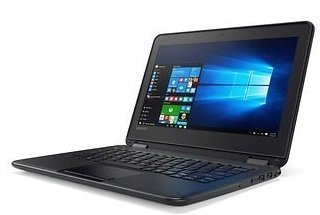 Lenovo 11.6-inch IPS Touchscreen 2-IN-1 Convertible Laptop PC, Intel Celeron Processor Up To 2.48GHz, 4GB RAM, 32GB SSD, Bluetooth, HDMI, WIFI, Spill-Resistant Keyboard, Windows 10 Pro