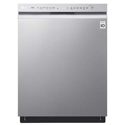 LG LDF5545ST 24' Front Control Dishwasher w/QuadWash and EasyRack Plus...