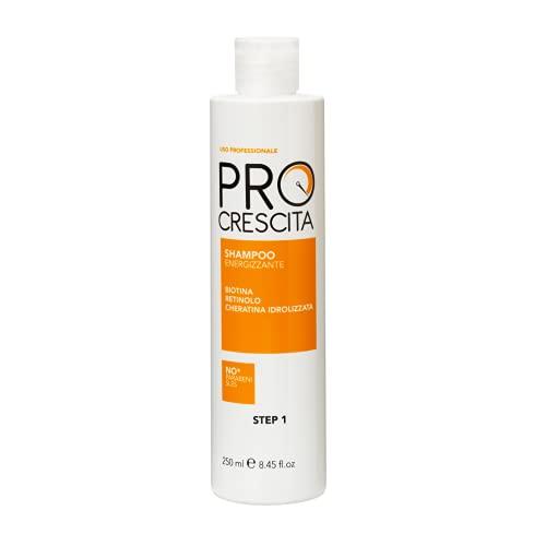 Pro Crescita - Shampoo Energizzante Stimolante - Shampoo Crescita Capelli, Trattamento Rinforzante - Capelli Luminosi ed Extra Lunghi - Prodotti per Crescita Capelli - 250 ml