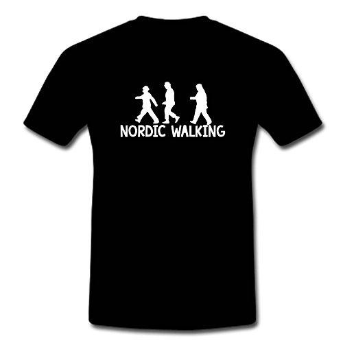 Norse Hammer T-Shirt Die Olsenbande-Nordic Walking M-XXL, Schwarz, L
