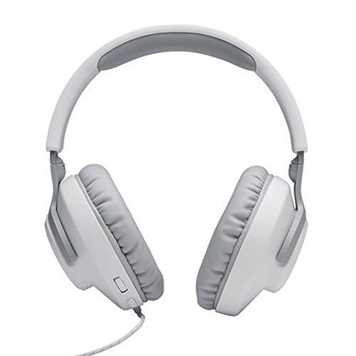 TEMP Casque Musique Casque Filaire Casque Gaming, Qualité sonore sans Perte Subwoofer Reconnaissance Audio Réduction Active du Bruit Qualité sonore élevée Profession Unisexe pour Ordinateur-White