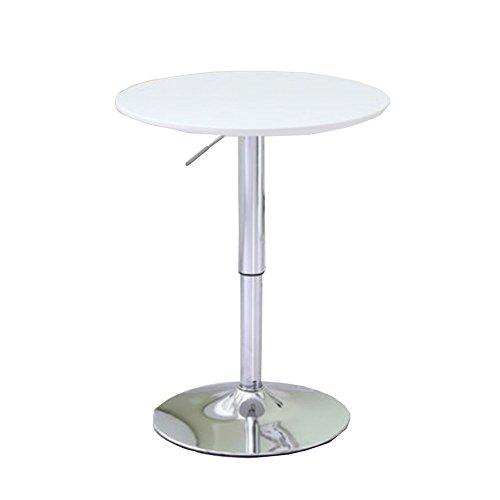 LHA Küche Esstisch Runde Kaffeetisch Weiß Moderne Freizeit Holz Tee Tisch Büro Konferenzsockel Tisch, Creme Weiß Table