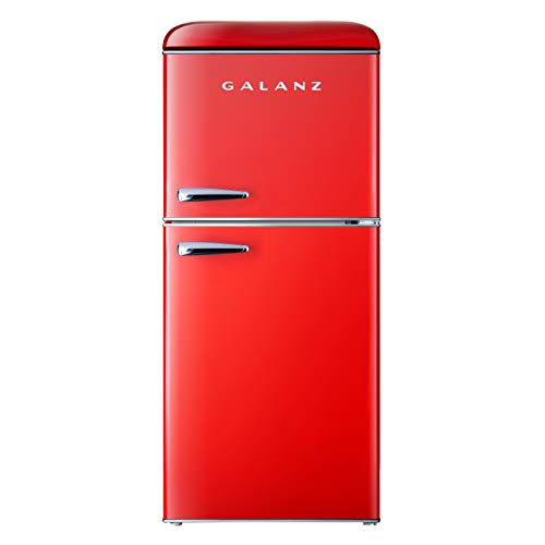 Galanz GLR46TRDER Mini Fridge with Dual Door, Adjustable Mechanical Thermostat with True Freezer,...