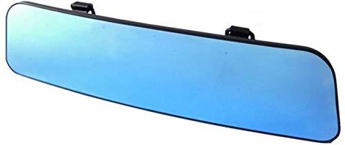 Specchietto Retrovisore Interno Universale in Silicone Grandangolare Antiriflesso montaggio facile con nastro elasticizzato (Azzurro)