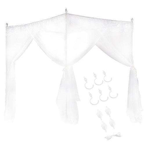 NATRUSS Bettvorhang, Princess Style DREI Seitenöffnungen Moskitonetz, Bed Canopy, Lila Mädchen für Schlafzimmer(120 * 200 * 200)