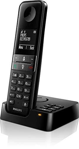 Philips D4751B/34 - Teléfono Fijo Inalámbrico con Contesta