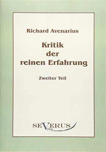 Kritik der reinen Erfahrung, Zweiter Teil (German Edition)