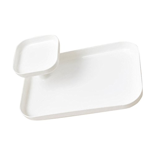 LOVIVER Doppelt Desktop Aufbewahrungsbox Schreibtisch Kunststoff Organizer - Weiß