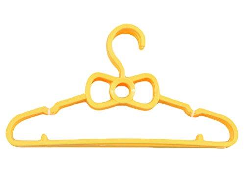 Joy Feel Buy 10 Pieza niños Perchas de plástico Lazo Colgador Antideslizante Perchas Diseño para niños DE 0 – 3 AñOS (Amarillo)